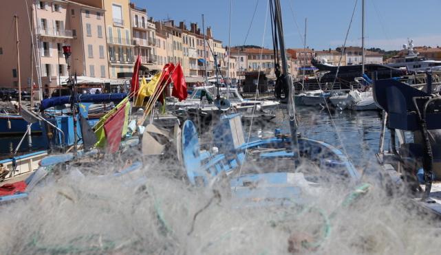 Fischerboote am Hafen von Saint-Tropez